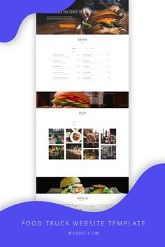 WebDo - The All-In-One Website Design Solution. Use the food truck website template to create your website today.