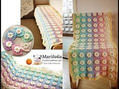 How to crochet rainbow afghan blanket free easy pattern tutorial for begginer - YouTube