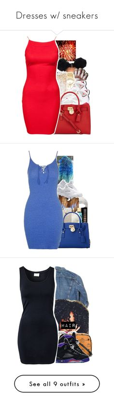 """""""Dresses w/ sneakers"""" by uniquee-beauty ❤ liked on Polyvore featuring Michael Kors, ban.do, Retrò, AX Paris, NIKE, Polo Ralph Lauren, Forever 21, Charlotte Russe, Casetify and MICHAEL Michael Kors"""