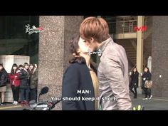 """▶ The behind the scenes of the epic kiss from """"Flower Boy Ramyun Shop""""    Seems to have been a bit embarrassing for Jung Il Woo.  [ENG SUB] Chi Soo_Eun Bi kissing scene - BTS_1080.mp4 - YouTube"""