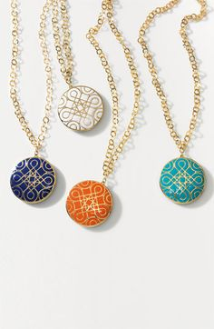 Nordstrom 'Eclectic Mosaic' Long Statement Pendant Necklace