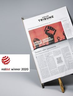 Won a reddot in 2020 Newspaper Design, Red Dots, Linz, Communication, Things To Do, Journal Design