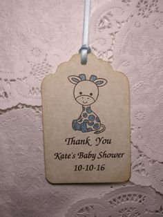 Baby Boy Shower Tag / Boy Party Favor Tag / Baby by FyreflyHollow