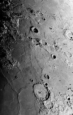 Lacus Mortis at top with Posidonius below Space Photography, Night Photography, Cosmos, Planets And Moons, Astronomy Pictures, Space Artwork, Spaceship Art, Astronauts In Space, Moon Pictures