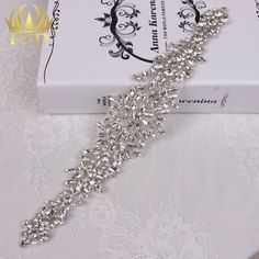 Aliexpress.com : Buy (30pieces) Wholesale Sewing On Hot Fix Rhinestones Sliver Crystal Diamond Bridal Headbands or Sash Wedding Dresses Appliques from Reliable applique trim suppliers on FangZhiDi