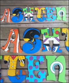 Disney Pixar Inspired Wooden Letters by DanicaBowtique on Etsy, $10.00