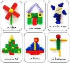 CONSTRUCTION: Fiches de construction Picot / Clipos / Kapla - Boîtes à compter Nathan