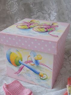 "Baskets, boxes handmade.  Fair Masters - handmade.  Buy Box ""Baby.""  Handmade.  Pink, baby, toy box"