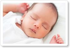 Babies sleeping with their arms up....sigh....hurray!....happiness!