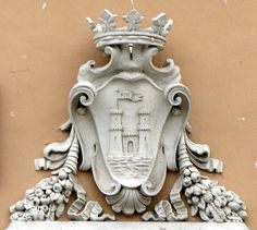 Coat of arms of the city, Town Hall, Livorno