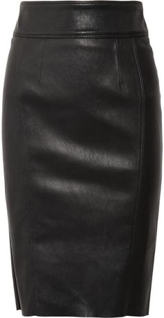 BURBERRY LONDON Stretch-leather Pencil Skirt
