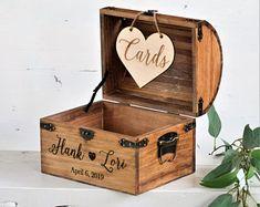Shabby Chic Wedding Rustic Wooden Card Box Rustic Wedding   Etsy Personalised Wedding Cards, Rustic Card Box Wedding, Wedding Keepsakes, Chic Wedding, Wedding Boxes, Autumn Wedding, Wedding Decor, Wedding Advice Box, Wedding Stuff