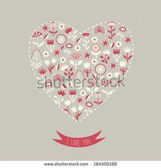 I love you. Valentine's Day Card. Vector illustration.