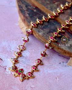 Simple Silver Haram From Balaji Silvers ~ South India Jewels Jewelry Design Earrings, Gold Jewellery Design, Necklace Designs, Silver Jewellery Indian, Silver Jewelry, Ruby Jewelry, Antique Jewellery, Temple Jewellery, Silver Rings