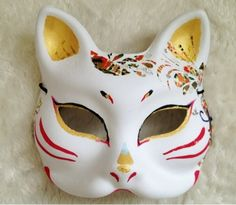 photo:01 Kitsune Mask, Oni Mask, Japanese Fox Mask, Comic Drawing, Maneki Neko, Japanese Outfits, Kawaii Clothes, Art Studies, Masquerade