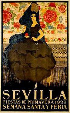 affiche feria seville 1922