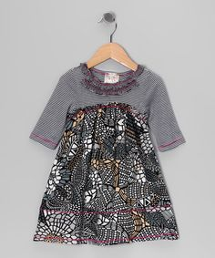 Take a look at this Black Mosaic Babydoll Dress - Toddler & Girls by Pink Vanilla on #zulily today!