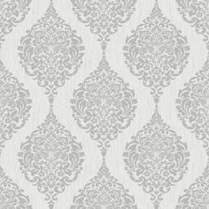 Graham Brown 20-740 Luna Wallpaper, Grey ❤ liked on Polyvore featuring home, home decor, wallpaper, gray wallpaper, grey wallpaper, gray home decor and grey home decor