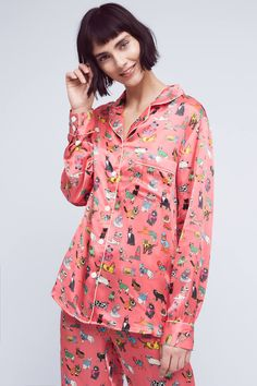 Karen Mabon Cat's Pyjamas Silk Sleep Top