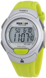 Timex Men's T5K612 Ironman Traditional 10-Lap Yellow-Green Resin Strap Watch Timex. Save 30 Off!. $30.20. 24-Hour Countdown Timer with Stop and Repeat. Indiglo® night-light. 100-Hour Chronograph with Lap and Split Times, 99-Lap Counter. Water-resistant to 330 feet (100 M). 10-lap memory recall for effortless review after workout