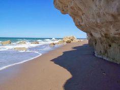 La playa de Las Grutas en Argentina.