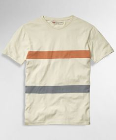 Levi's Premium Tee - Red & Blue Reverse Stripe - Knits & Tees