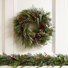 Fragrant Berry Garland--Williams Sonoma wreath inspiration