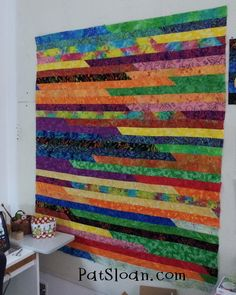 Jellyroll strip quilts