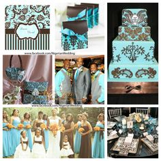 79 best Dream Wedding (Light Blue, Brown, and White Theme) images on ...