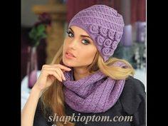 Женские вязанные шапки - фото 2016-2017 / Women's knitted hats - YouTube
