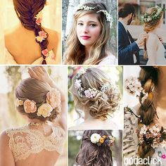 wedding hairstyles #flowers