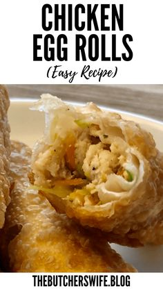 Easy Chicken Egg Rolls   The Butcher's Wife Egg Rolls Baked, Chicken Egg Rolls, Chicken Eggs, Egg Roll Recipes, Keto Recipes, Cooking Recipes, Egg Roll Ingredients, Chicken Wontons, Chicken And Cabbage
