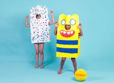 dress ups! Diy Paper Bag, Diy Costumes, Halloween, Craft, Diy For Kids, Pikachu, Play, Bags, Moma