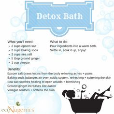 Infographic: Pamper Yourself with a Detox Bath
