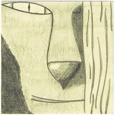 Dessin de la face d'un animal sur un post-it La Face, Drawings, Atelier, Animaux