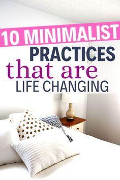 Minimalist Living Tips, Becoming Minimalist, Minimalist Closet, Minimal Living, Minimalist Lifestyle, Minimalist Home, Simple Living, Home Organization Hacks, Organizing