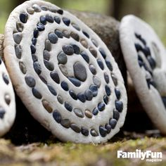Pebble Plaque: This project starts with a trip outdoors to collect a basket of small, beautiful stones for an all-natural mosaic. Make sure the pebbles are clean and dry before you press them into the homemade salt dough.
