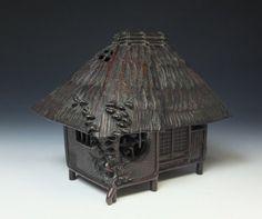 Meiji Period Bronze Koro by Shindo Shinzan