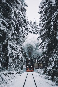 train, winter, and snow image Christmas Photography, Winter Photography, Landscape Photography, Nature Photography, Travel Photography, Photography Training, Photography Backgrounds, Driving Home For Christmas, Winter Christmas