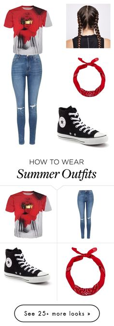 """""""Work outfit"""" by dmjackson12 on Polyvore featuring Topshop, Converse and New Look"""