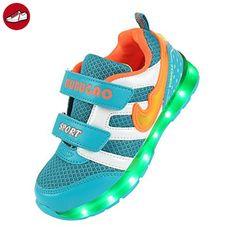Angin-tech® 7-Light Kinder LED Sneaker Sportschuhe Blink Boots Birthday Gift Camping Wandern Trekking-Schuhe (EU36, Light Blue) (*Partner-Link)