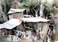Rickety by sterling edwards Watercolor ~ 22 x 30