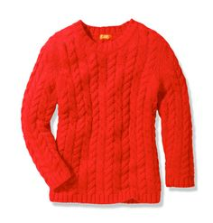 Nothing says winter holiday to me like a red cable knit sweater: @Joe Fresh Women Tops Cable Knit Sweater.