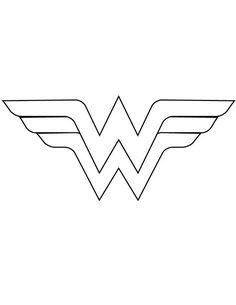 Wonder Woman Logo Coloring Pages. 20 Wonder Woman Logo Coloring Pages. Wonder Woman 49 Printable Coloring Page for Kids and Adults Wonder Woman Birthday, Wonder Woman Party, Wonder Woman Cake, Diy Wonder Woman Costume, Logo Wonder Woman, Disfraz Wonder Woman, Costume Batman, Thor Costume, Anniversaire Wonder Woman
