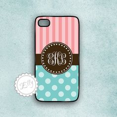 cute candy iphone case polka dots and stripes by ColorsAndFriends, $16.99
