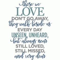 Silhouette Design Store - View Design #84882: those we love don't go away phrase