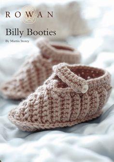Billy Booties in Rowan Baby Merino Silk DK