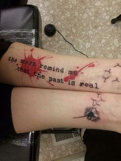 Trash Polka Lyric Tattoo