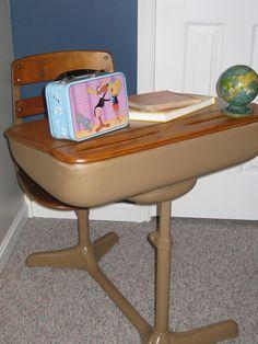 Great Old School Desk My Husband Refinished. Nice Design