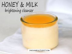 Whiten and brighten the skin with a natural homemade cleanser using milk and honey. Milk contains natural ingredients that helps to keep your skin soft and supple. Homemade Skin Care, Diy Skin Care, Homemade Beauty, Natural Skin Whitening, Natural Skin Care, Natural Beauty, Beauty Care, Beauty Hacks, Beauty Tutorials